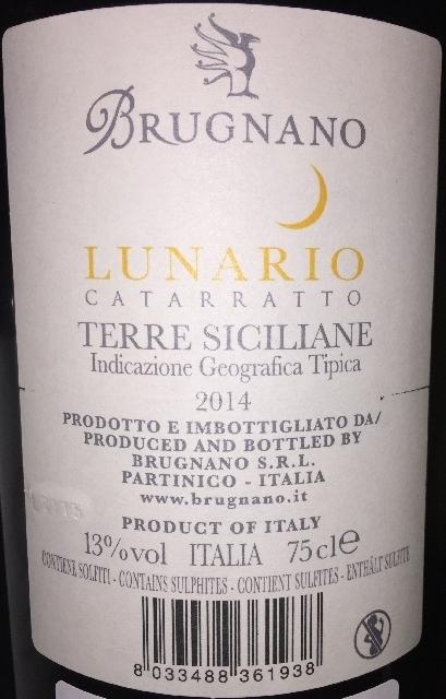 Lunario Catarratto Terre Siciliane Brugnano 2014 part2