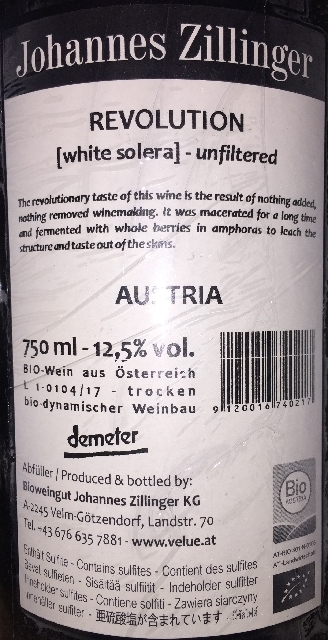 Revolution White solera unfiltered Johannes Zillinger part2
