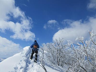 藻琴山スノーシュー山行3
