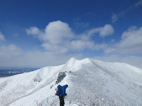 藻琴山スノーシュー山行4