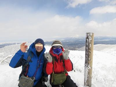 藻琴山頂上(3月)2