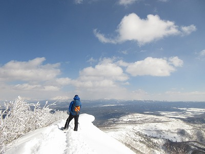 藻琴山スノーシュー山行6