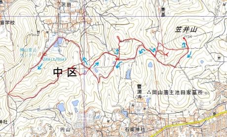 笠井山地図