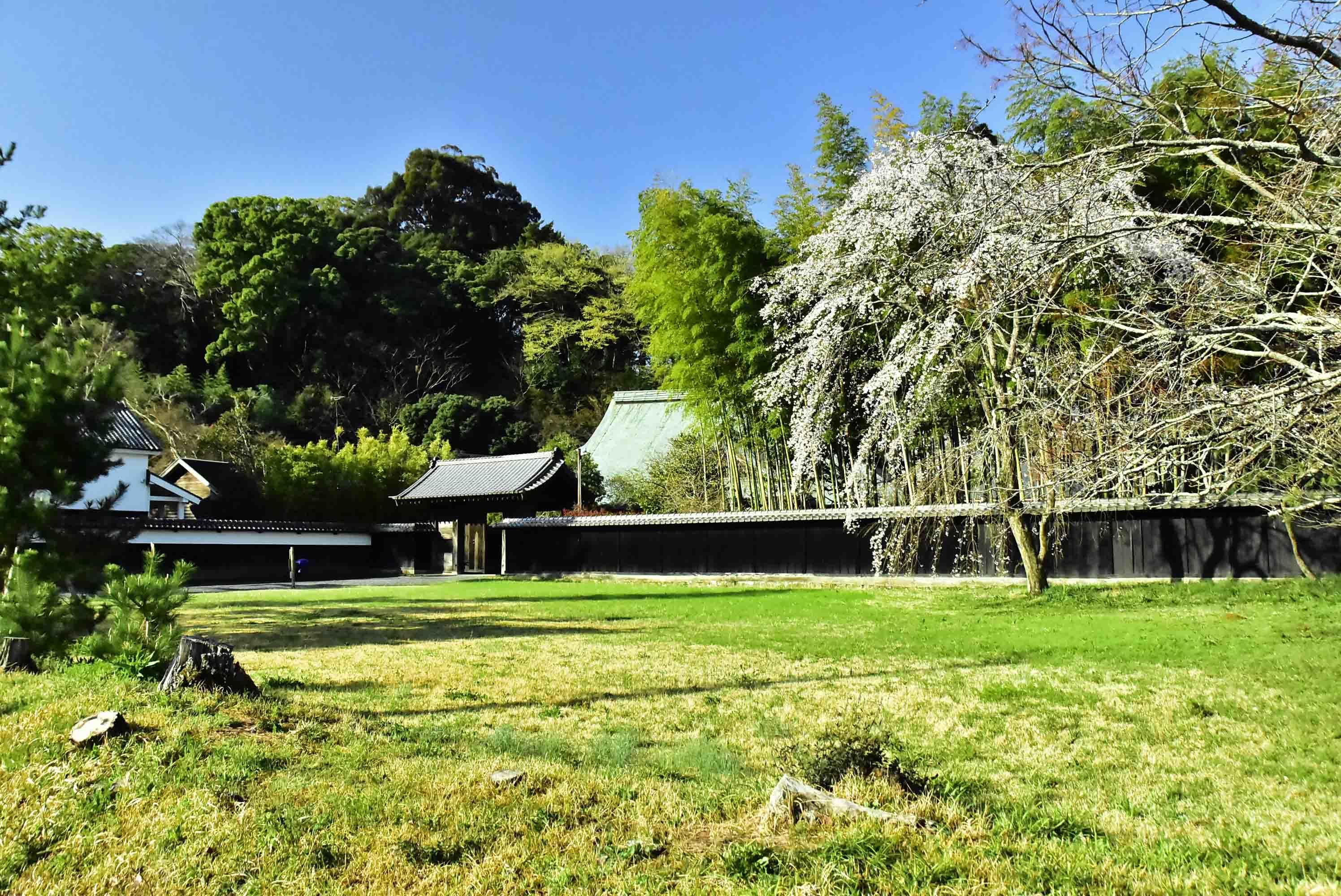 江川邸後方が江川砦