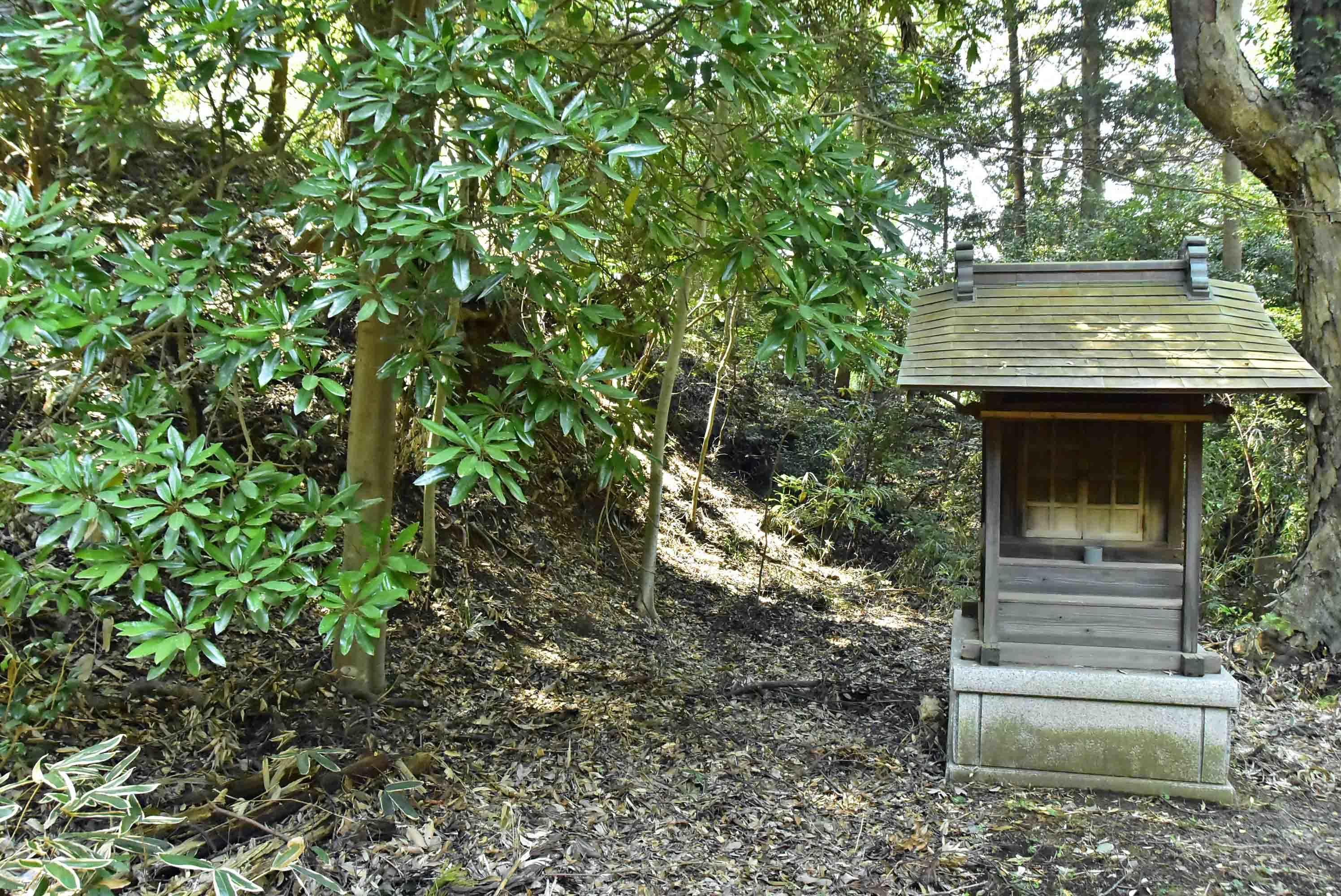 江川砦 左側が櫓台