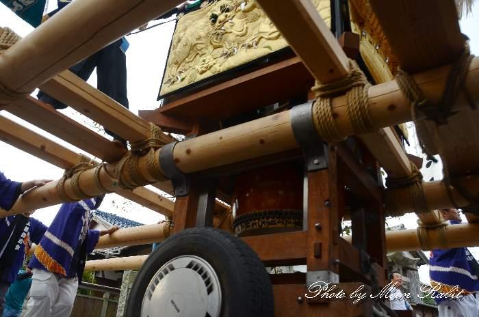 台場・二輪車(台車 車輪) 上組子ども太鼓台 嘉母神社祭礼