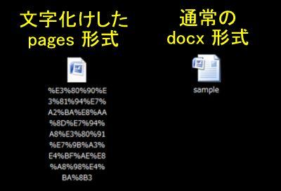 メールの添付資料の文字化け