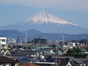 2018年3月2日 静岡市立登呂博物館から見た富士山