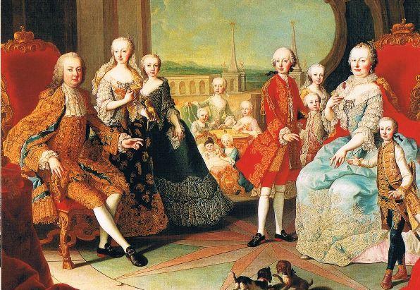 女帝マリアテレジアと家族たち