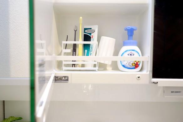 洗面所・洗面台裏・歯ブラシ収納①