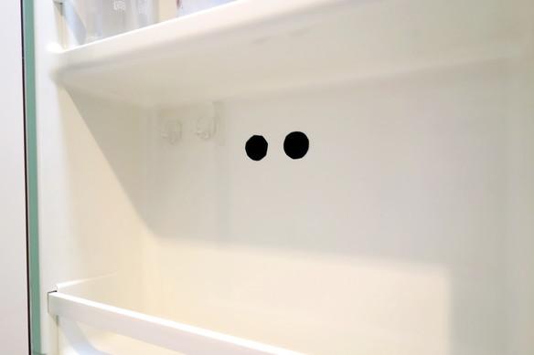 洗面所・洗面台裏・歯ブラシ収納・フィルムフック①