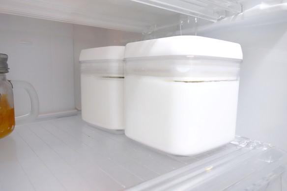 冷蔵庫・冷蔵室・ニトリ・Easyレバーキャニスター①