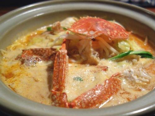 渡り蟹の鍋焼き